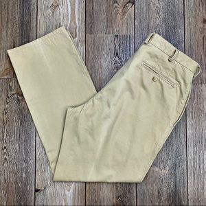Peter Millar Pima Cotton Twill Flat Front Pants.